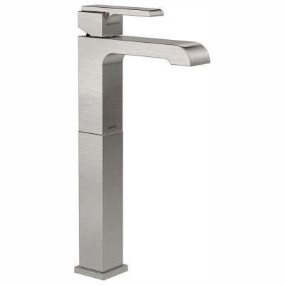Ara Single Hole Single-Handle Vessel Bathroom Faucet in Stainless
