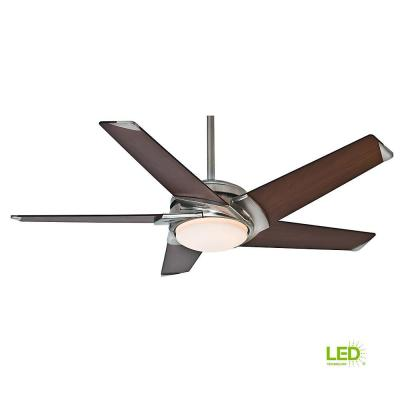 Stealth 54 in. Integrated LED Indoor Brushed Nickel Ceiling Fan with Universal Wall Control