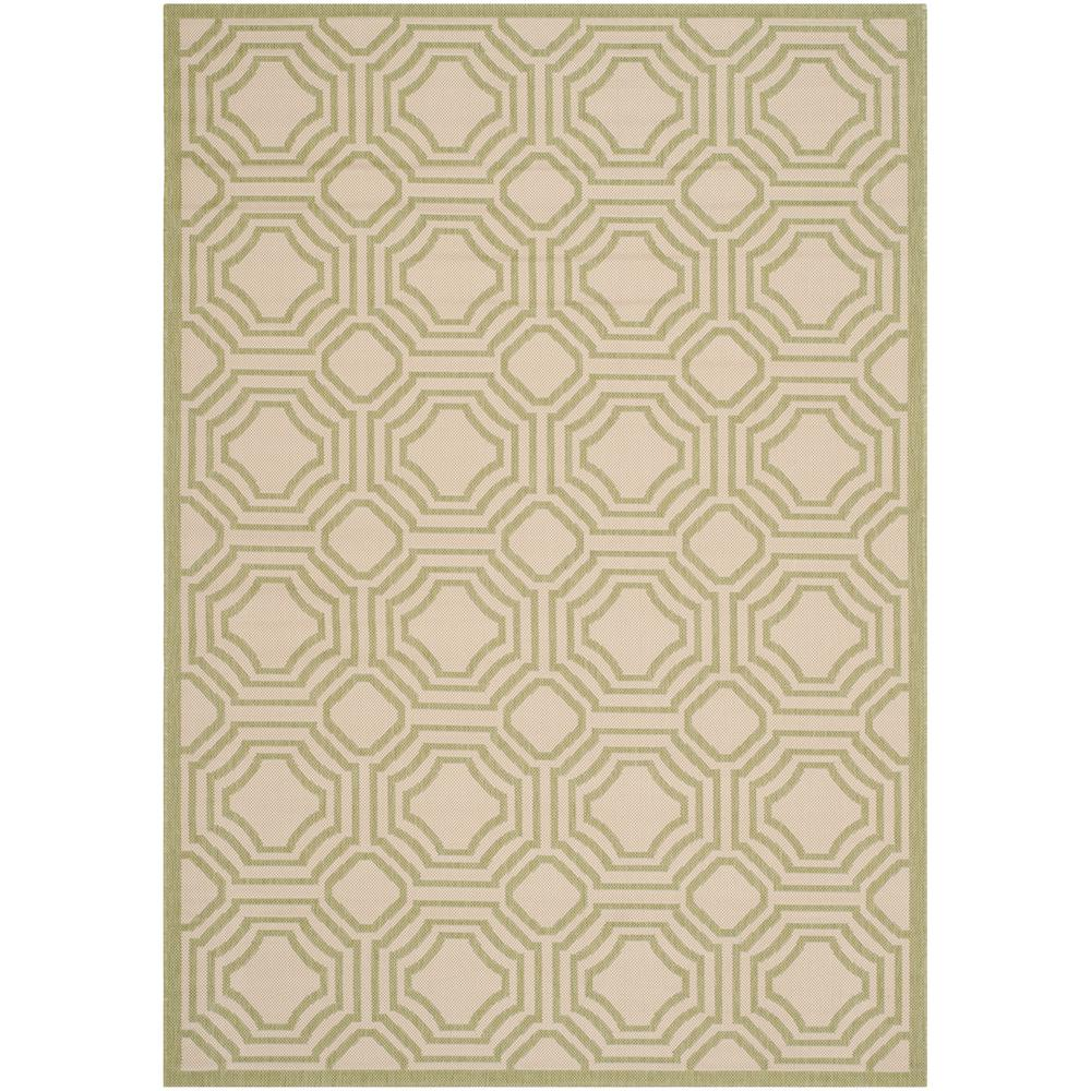 Safavieh Courtyard Beige/Sweet Pea 6 ft. 7 in. x 9 ft. 6 in. Indoor/Outdoor Area Rug