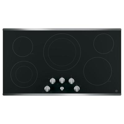 36 in. Radiant Electric Cooktop in Stainless Steel with 5 Elements including Power Boil