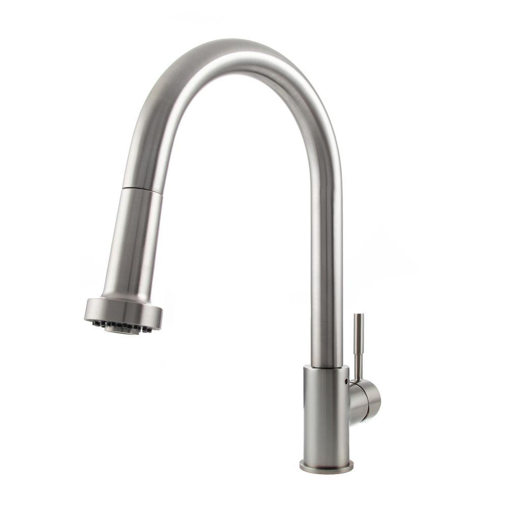 ZLINE Kitchen and Bath Monet Single-Handle Pull-Down Sprayer Kitchen Faucet in Stainless Steel