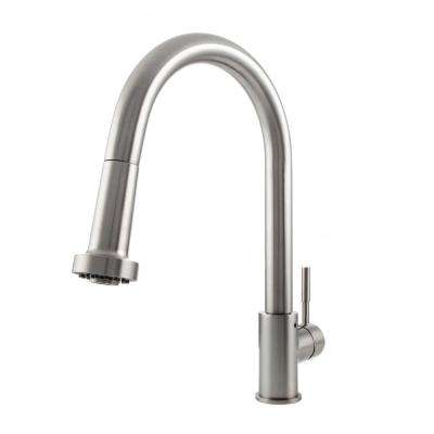Monet Single-Handle Pull-Down Sprayer Kitchen Faucet in Stainless Steel