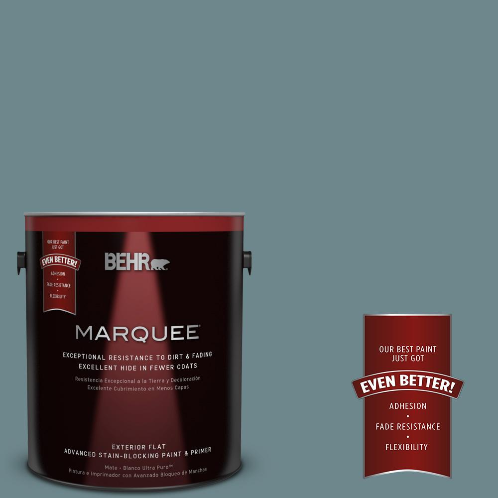 1 gal. #MQ6-3 Winter in Paris Flat Exterior Paint