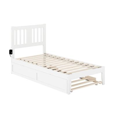 Platform Twin Trundle Beds Bedroom Furniture The Home Depot
