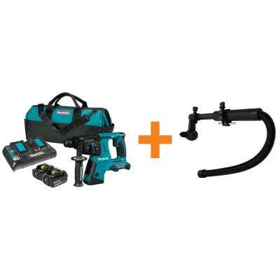 18V X2 LXT (36-Volt) 1 in. Cordless SDS-Plus Concrete/Masonry Rotary Hammer Drill w/Bonus Dust Extraction Attachment