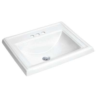 Dawn 23 in. Drop-In Vitreous China Bathroom Sink in White