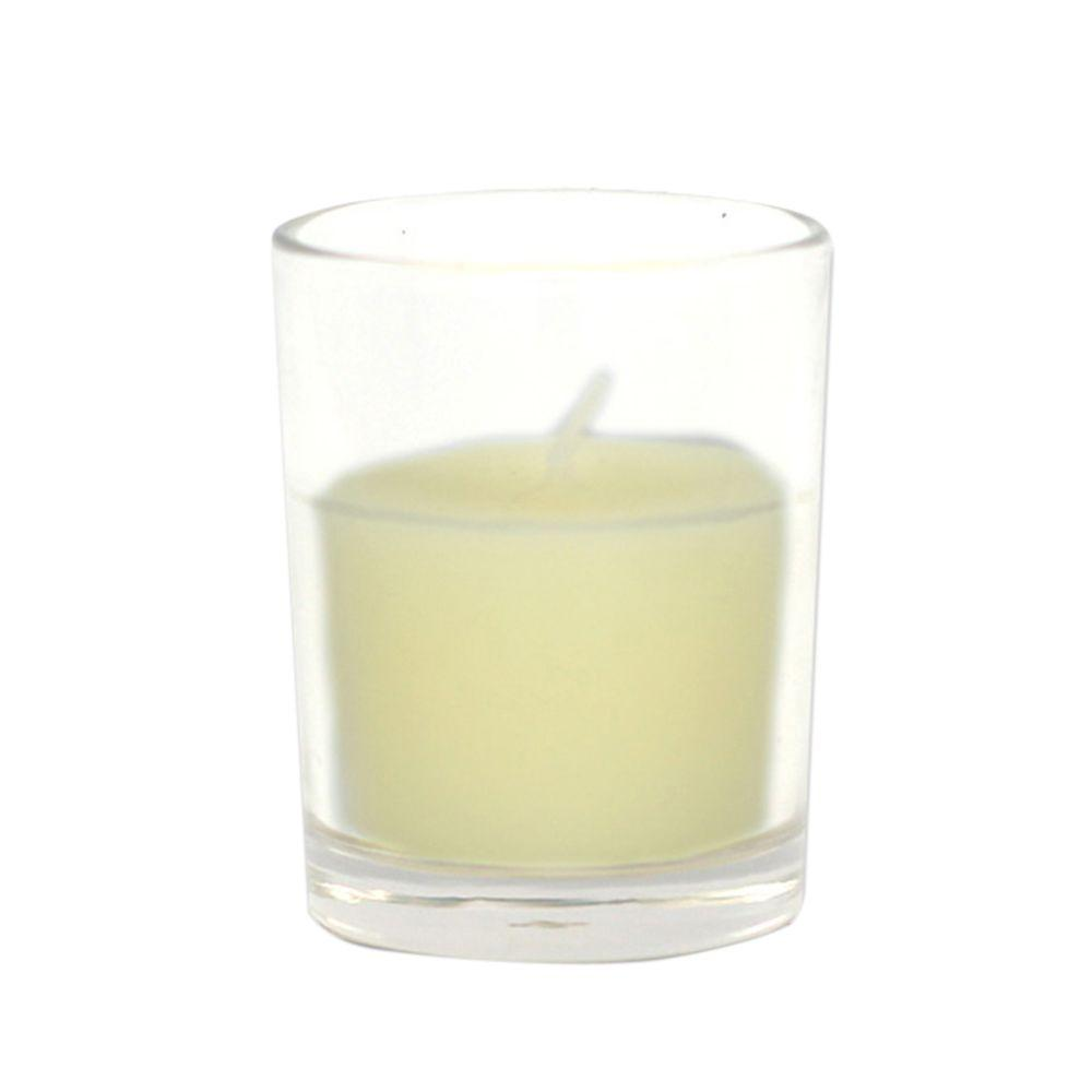 Zest Candle 2 in. Ivory Round Glass Votive Candles (12-Box)