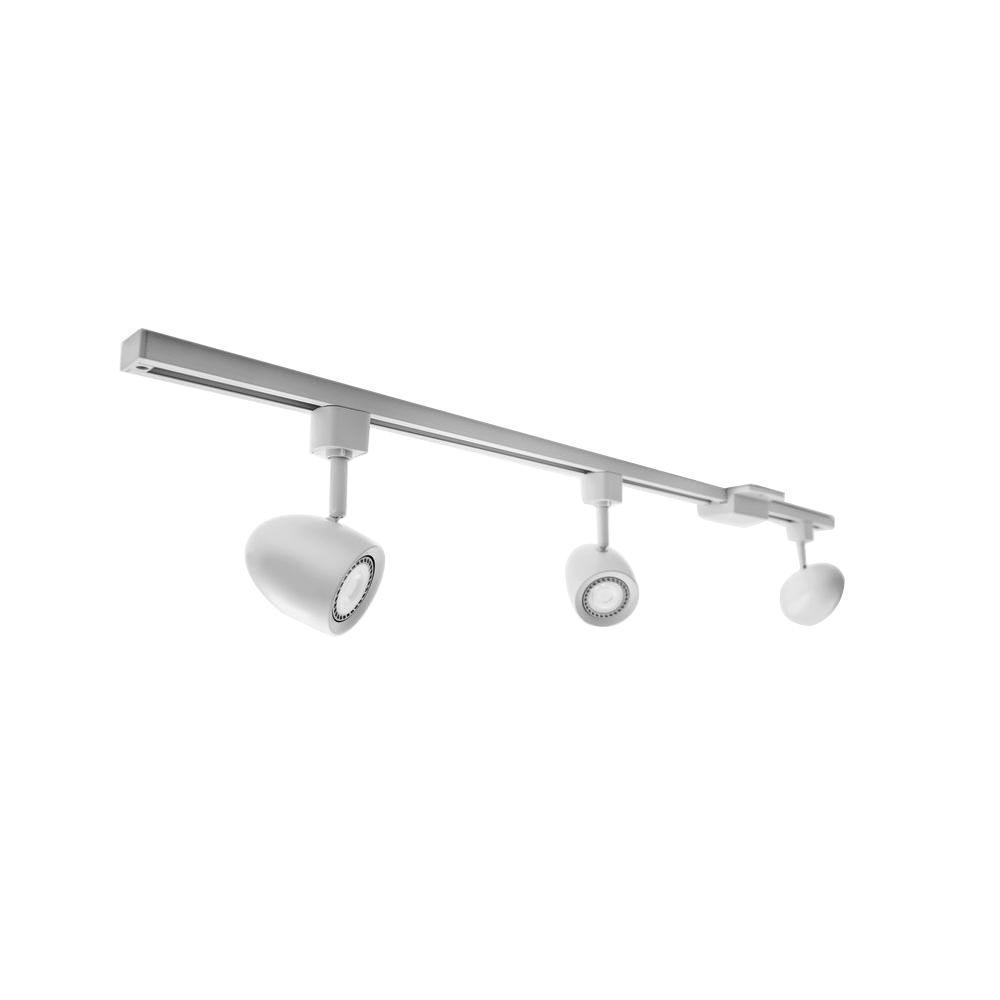 3 Light White Integrated Led Track Lighting Kit