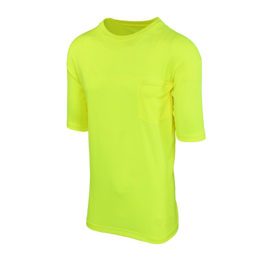 MAXIMUMSAFETY petite Maximum Safety Unisex 2X-Large Hi-Vis Yellow Short-Sleeve Safety Shirt, Adult Unisex, Hi Vis Yellow