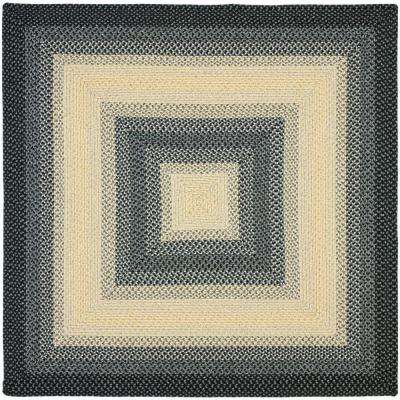 Braided Black/Grey 8 ft. x 8 ft. Square Area Rug