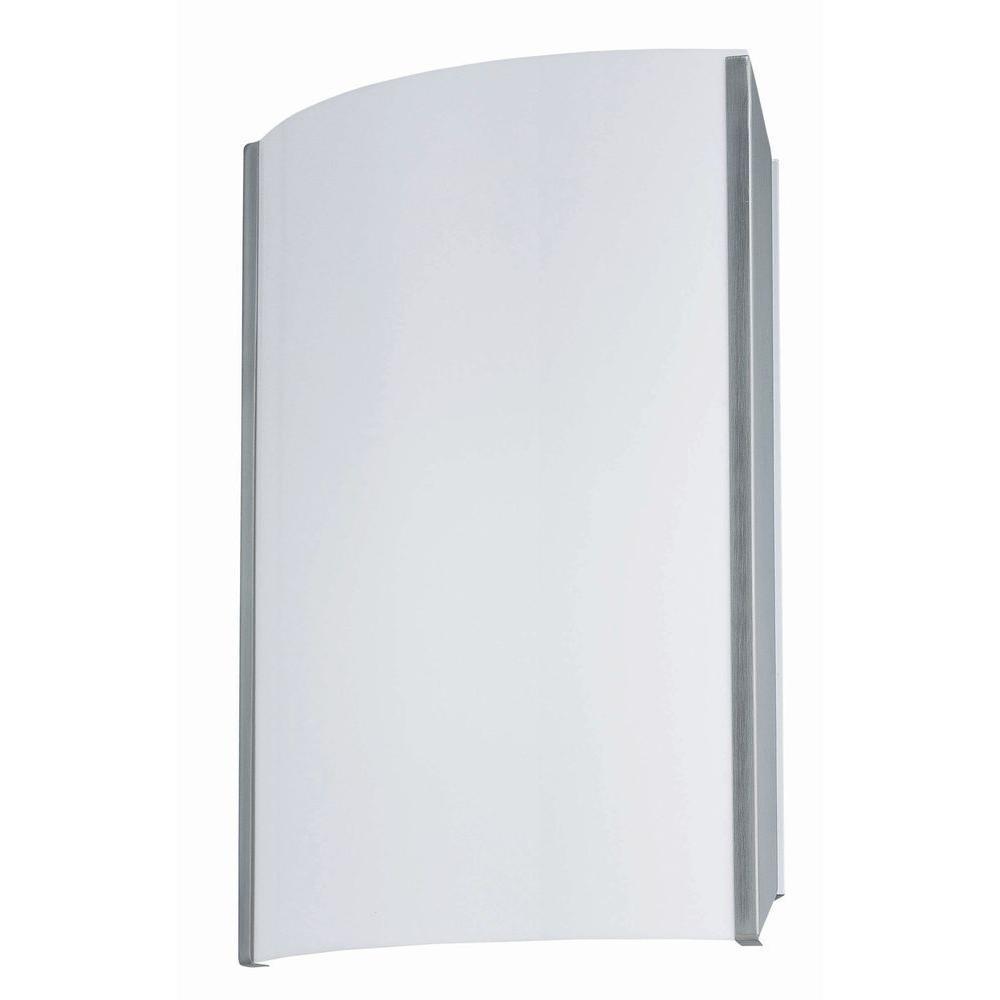 1-Light Polished Steel Sconce
