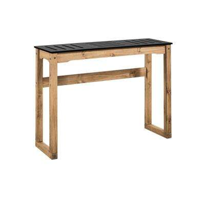 Stillwell 47.3 in. Black and Natural Wood Bar Table
