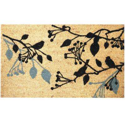Chirping Birds 30 in. x 18 in. Coir Door Mat