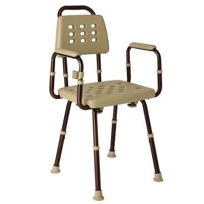 Elements Collection 22.4 in. W x 19.9 in. D Shower Seat with Back Rest with Microban