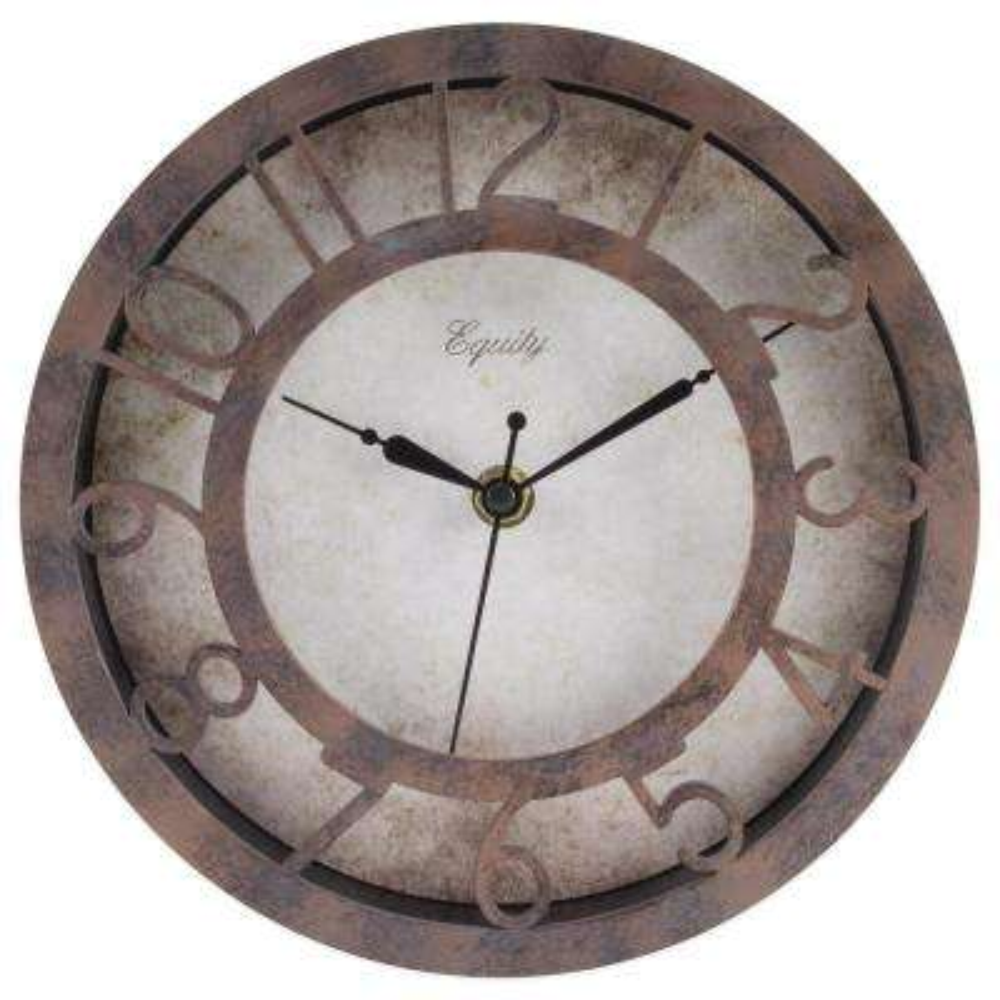 8 in. Round Patina Analog Wall Clock