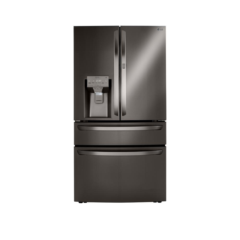 LG Electronics 22.5 cu. ft. French Door Refrigerator, Door-In-Door, Dual and Craft Ice in PrintProof Black Stainless, Counter Depth, PrintProof Black was $4099.0 now $2698.2 (34.0% off)