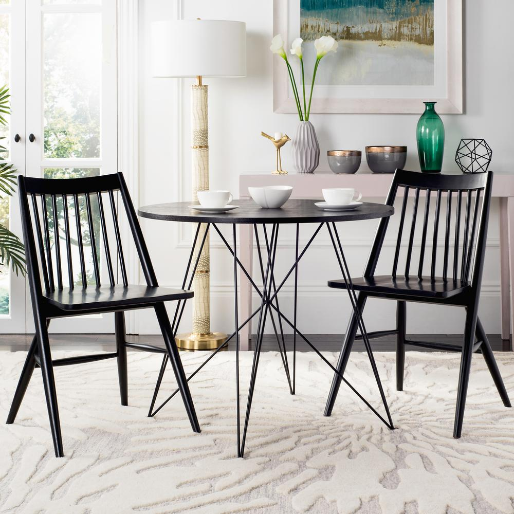 Charmant Safavieh Wren Black 19 In. H Spindle Dining Chair (Set Of 2)