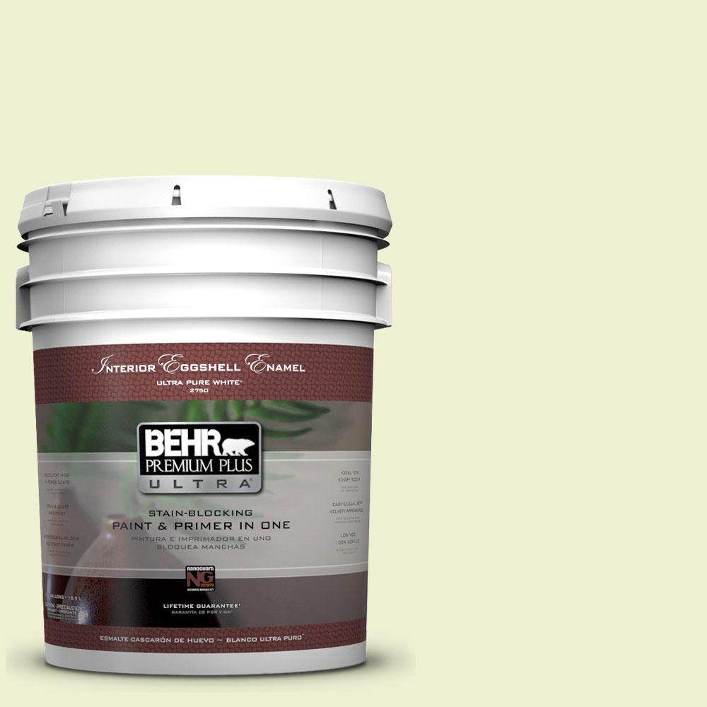 BEHR Premium Plus Ultra 5-gal. #420A-1 Green Shimmer Eggshell Enamel Interior Paint