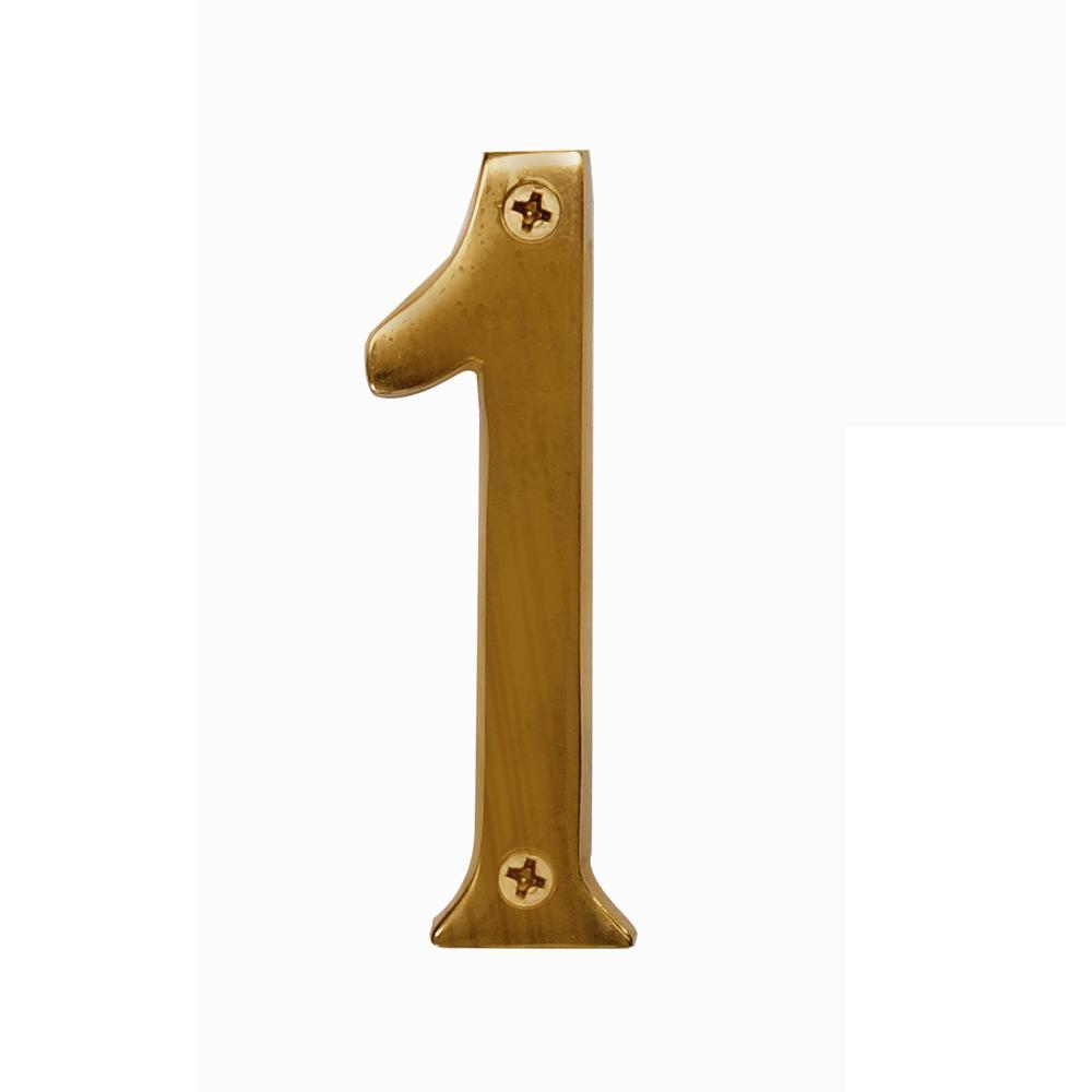 Salsbury Industries 4 in. Solid Brass Antique Number 1