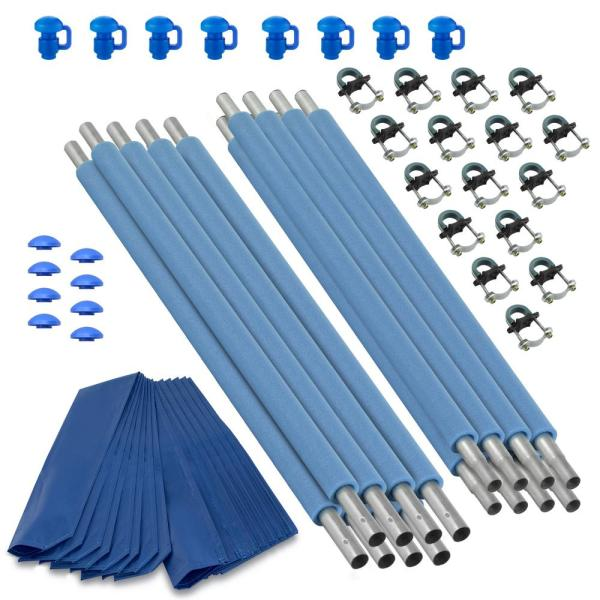 Trampoline Replacement Enclosure Poles and Hardware, Set of 8 (Net Sold Separately)