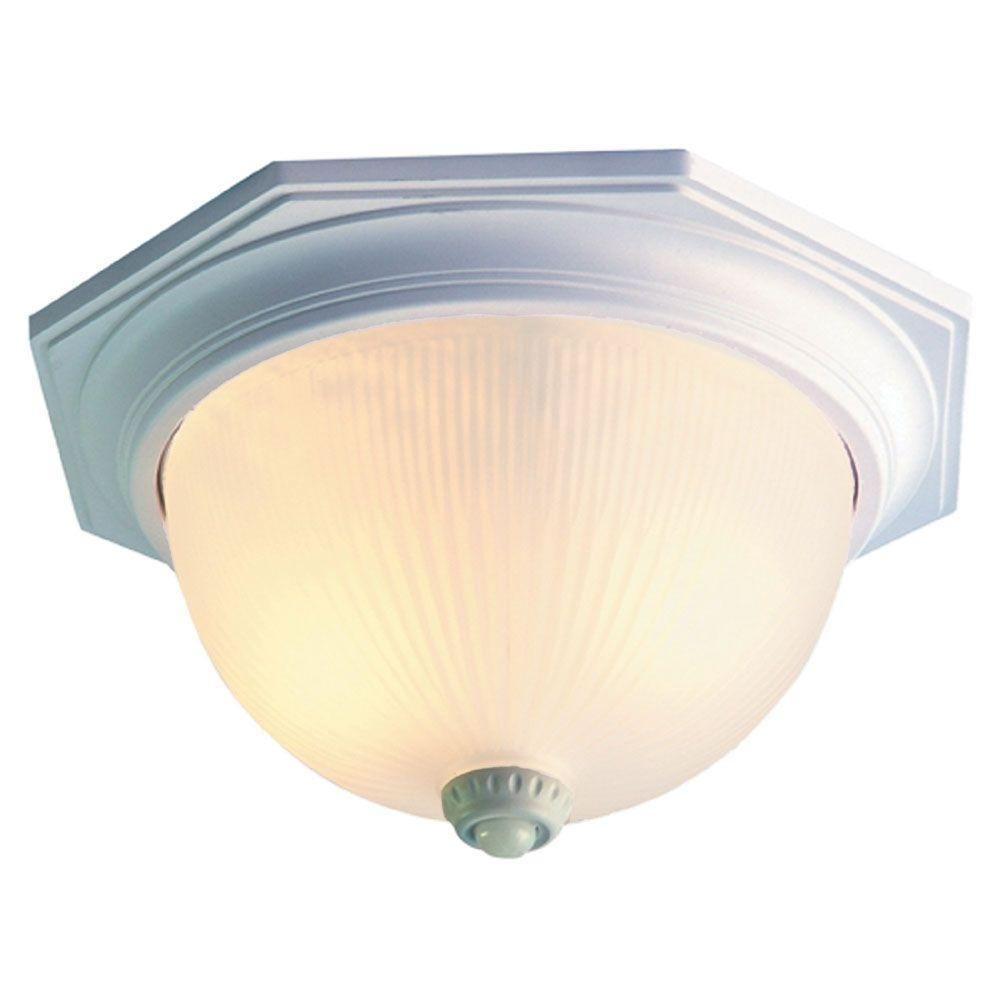 Acclaim Lighting Outer Banks Collection Ceiling-Mount 2-Light Outdoor Textured White Fixture