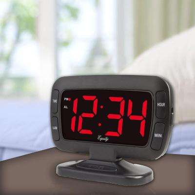 Extra-Large 1.8 in. LED Tilting Display Electric Alarm Table Clock