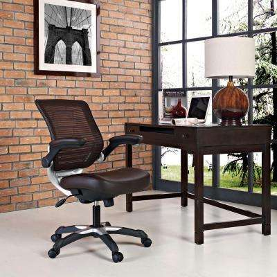 Edge Vinyl Office Chair in Brown