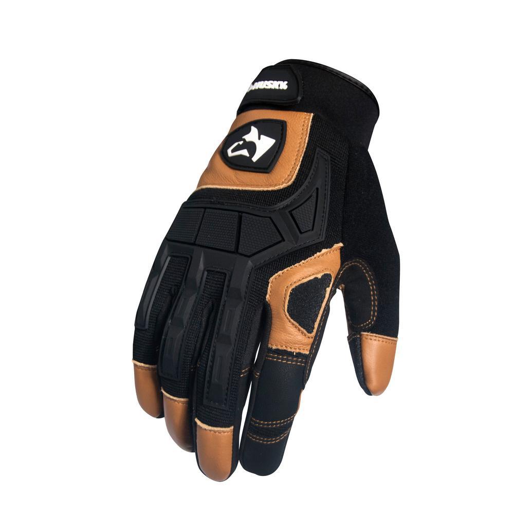 X-Large Husky Extreme duty mechanic goat leather glove(1-Pack)