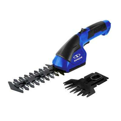 7.2-Volt Cordless Electric 2-in-1 Grass Shear and Hedge Trimmer in Dark Blue