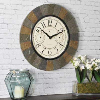 15.5 in. Slate Garden Indoor/Outdoor Clock