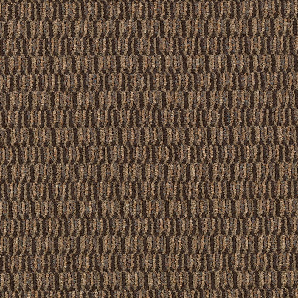 Social Network I - Color Tree Bark Loop 12 ft. Carpet