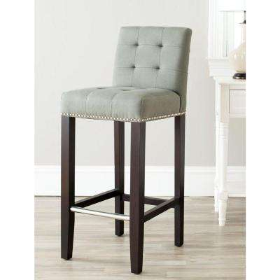 Thompson 30 in. Sea Mist Cushioned Bar Stool