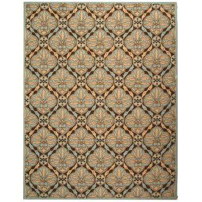 Chelsea Brown/Blue 4 ft. x 6 ft. Area Rug
