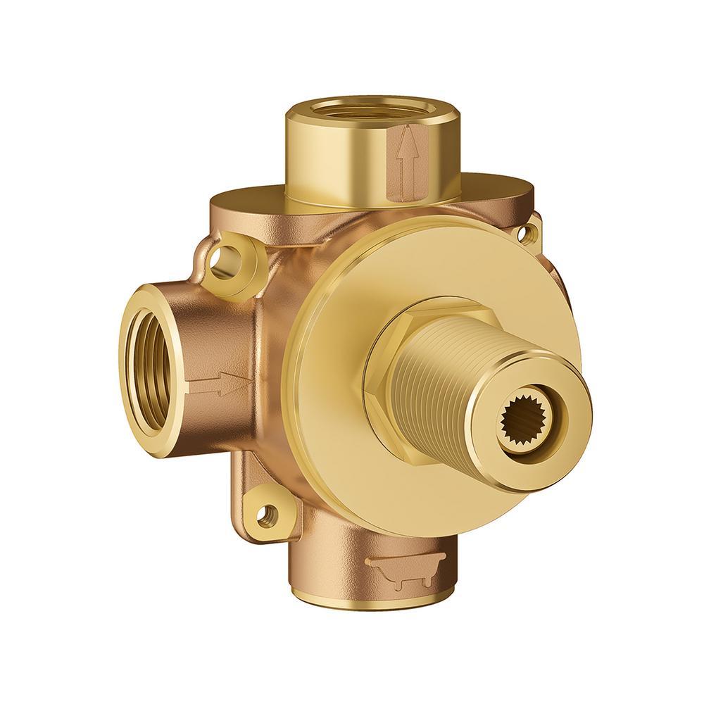 "1//2/"" 6 way diverter valve 2 x Banks of 3"