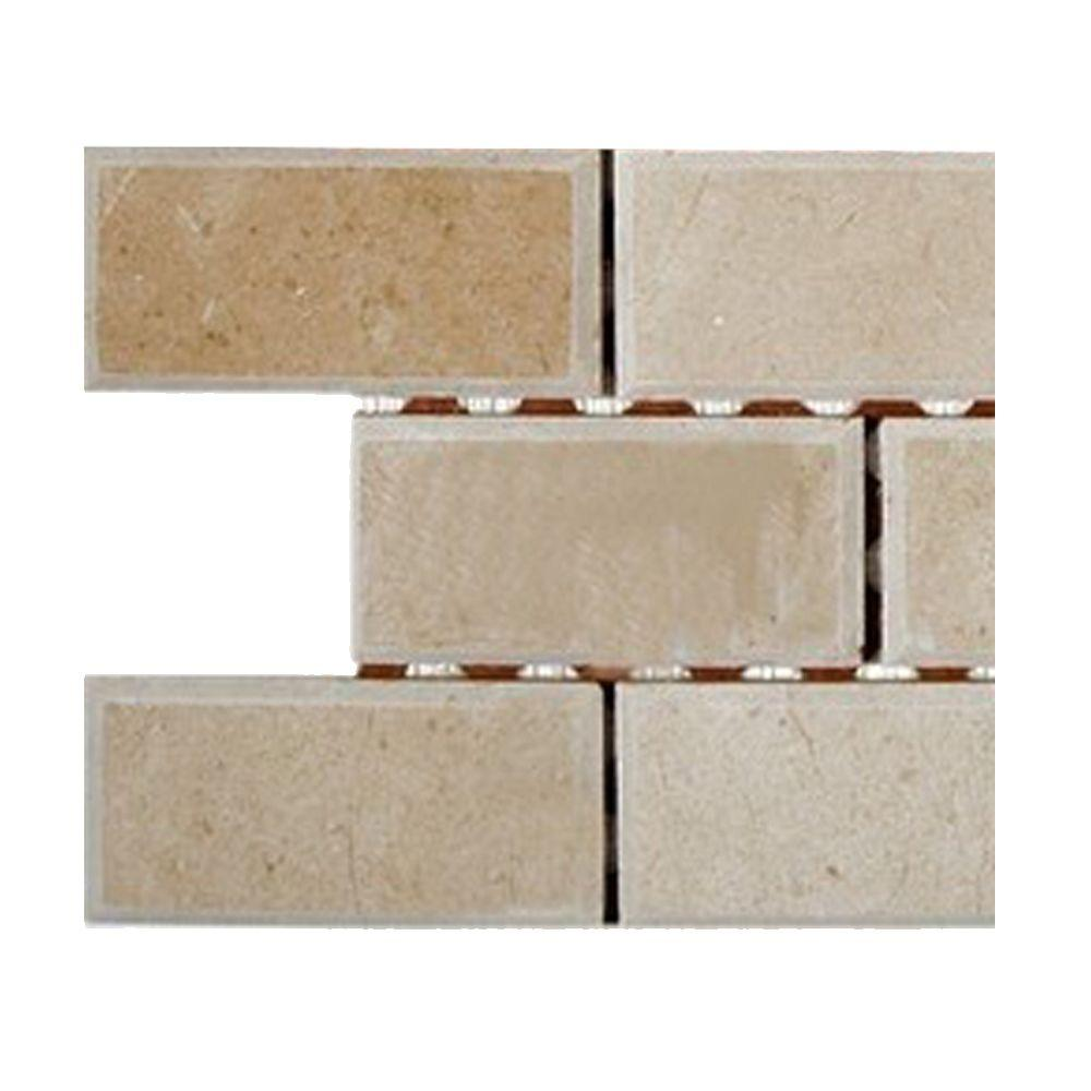 - Ivy Hill Tile Crema Marfil 2 In. X 4 In. Chamfered Marble Mosaic