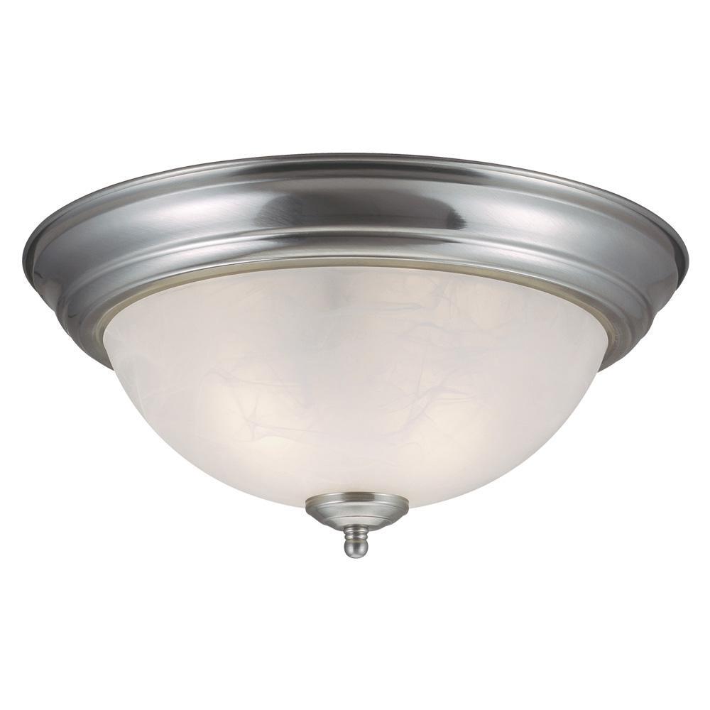 Millbridge 2-Light Satin Nickel Ceiling Light