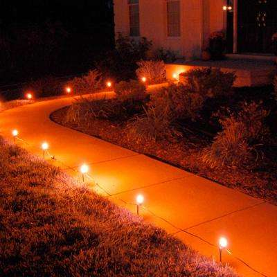 Orange Pathway Lights (10-Count)
