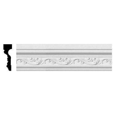 1-1/2 in. x 4-1/2 in. x 94-3/8 in. Polyurethane Tristan Chair Rail Moulding
