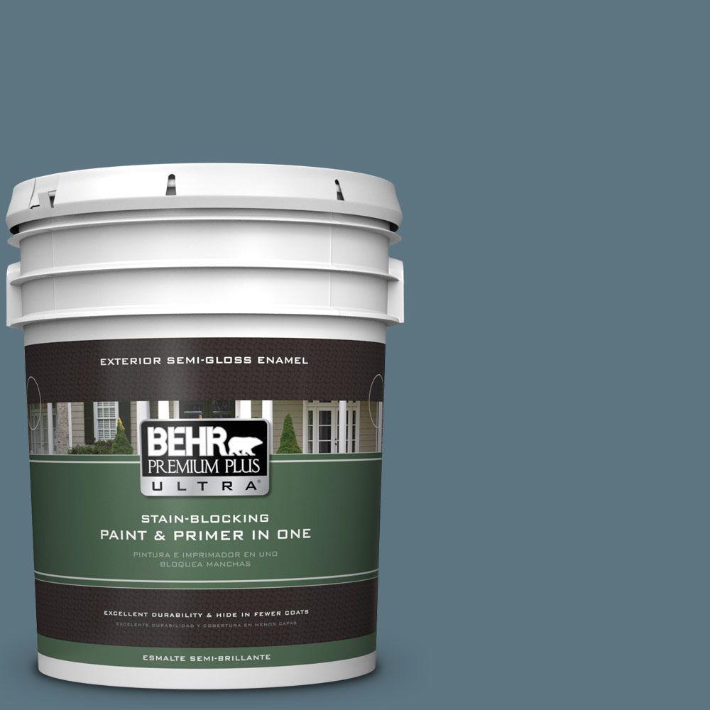 BEHR Premium Plus Ultra 5-gal. #530F-6 Heron Semi-Gloss Enamel Exterior Paint