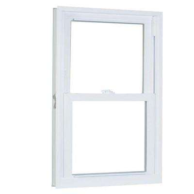 27.75 in. x 37.25 in. 70 Series Pro Double Hung White Vinyl Window with Buck Frame
