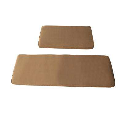 Seat Cushions for 3-Person Sauna with Mildew-Resistant Foam Core and Removable Cover