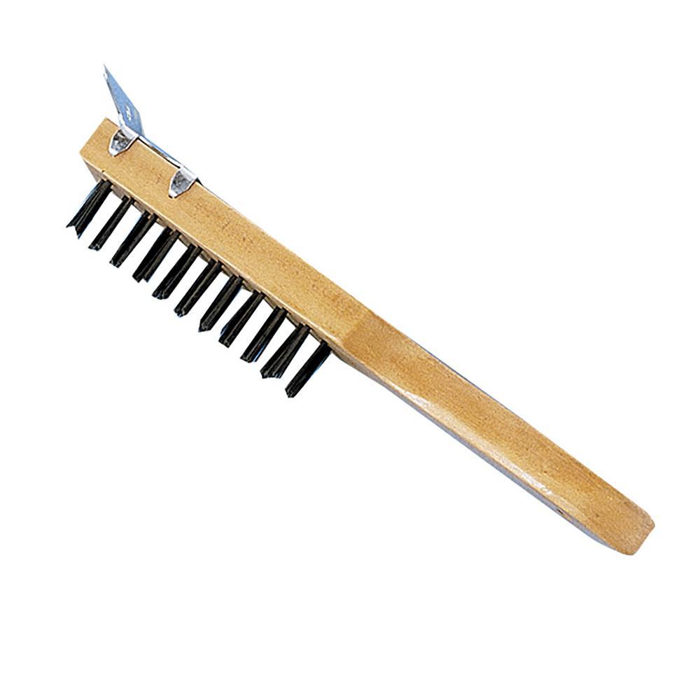 4 in. x 11 in. Heavy Duty Brush with Scraper (12-Pack)