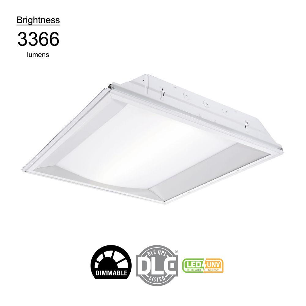 e79951365bc Alcon Lighting 14002 Elite Architectural LED 2x4 Recessed Center. Metalux 2  ft. x 2 ft. White Integrated LED Center Basket Drop .