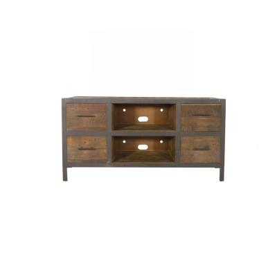 Brixton 54 in. Distressed Natrual Wood TV Stand Fits TVs Up to 60 in. with Built-In Storage