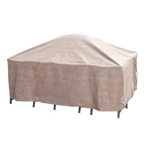 Square Patio Table And Chair Set Cover With Inflatable Airbag To Prevent