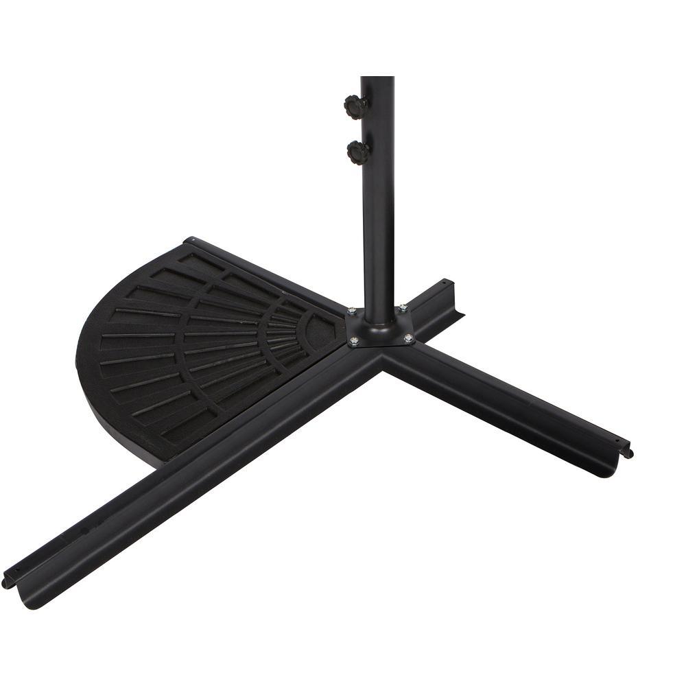 Resin Patio Umbrella Base Weight For Offset Umbrella In Black