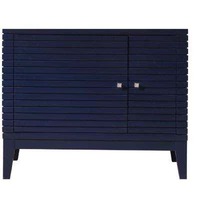 Linear 35.50 in. W x 18.75 in. D Bath Vanity Cabinet Only in Victory Blue