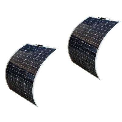 100-Watt Bendable Flexible Thin Lightweight Monocrystalline Solar Panels (2-Pack)