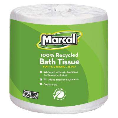 4.1 in. x 3.7 in. Sheet White Bath Tissue 1-Ply (40 Rolls)