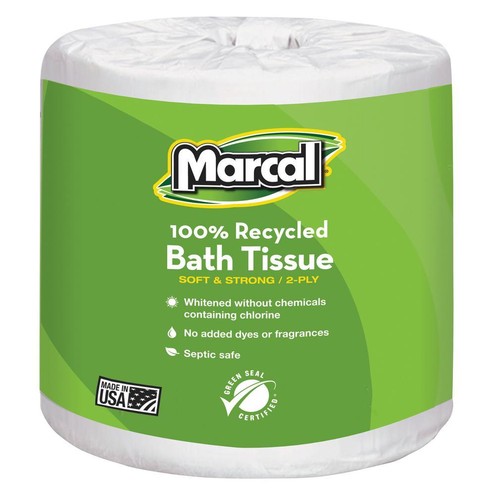 Marcal Premium Recycled Bathroom Tissue, White, 40 / Carton (Quantity)